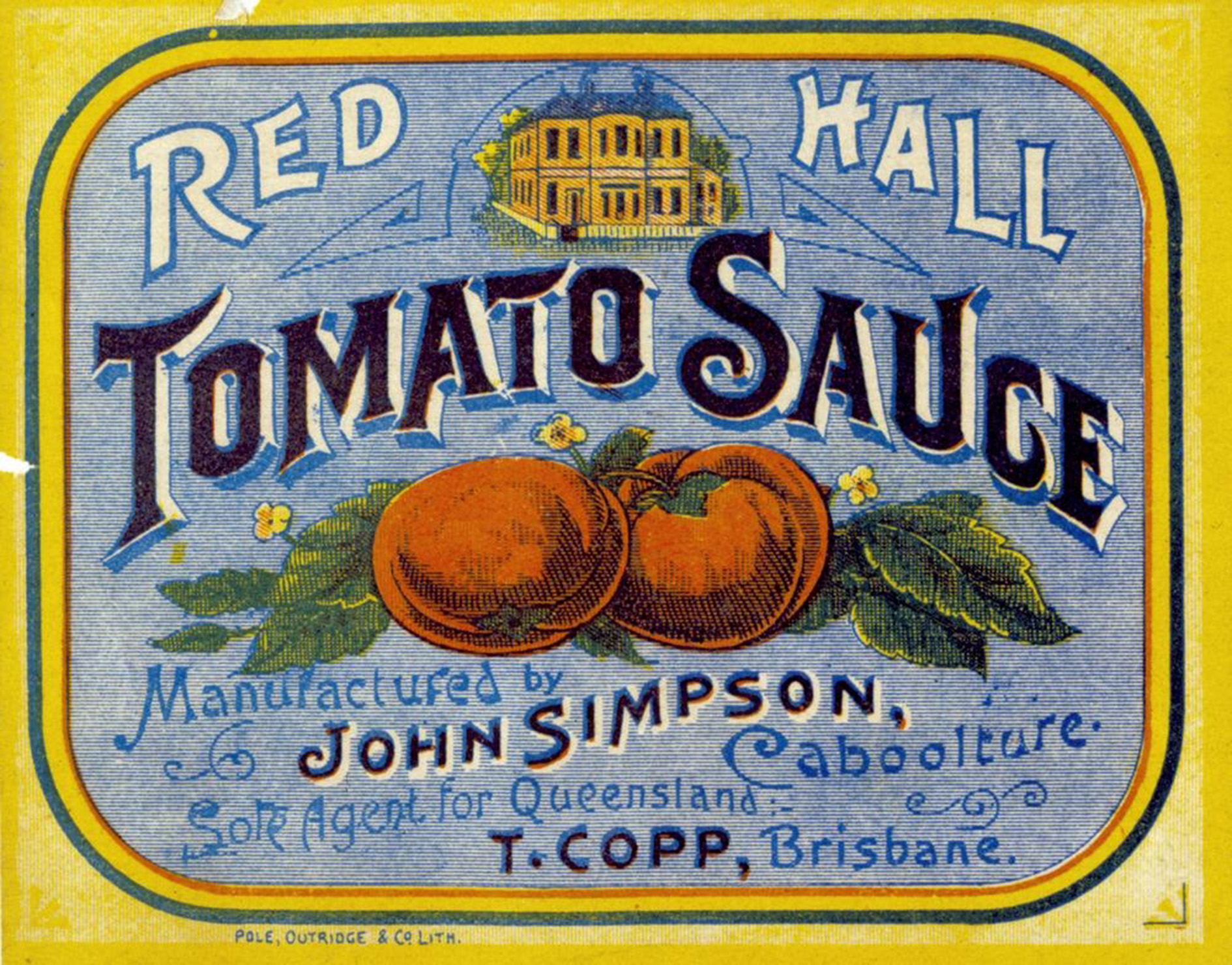 Red Hall Tomato Sauce label