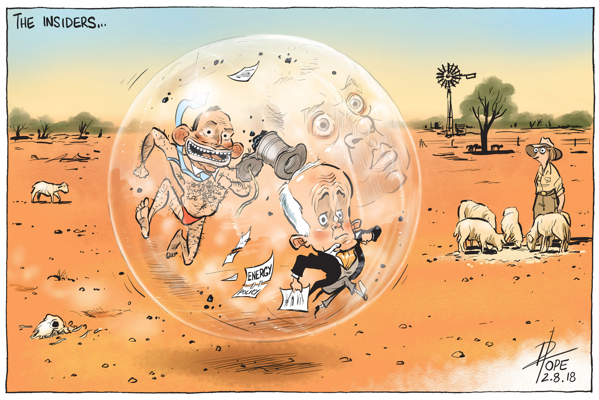 political cartoon The Insiders by David Pope