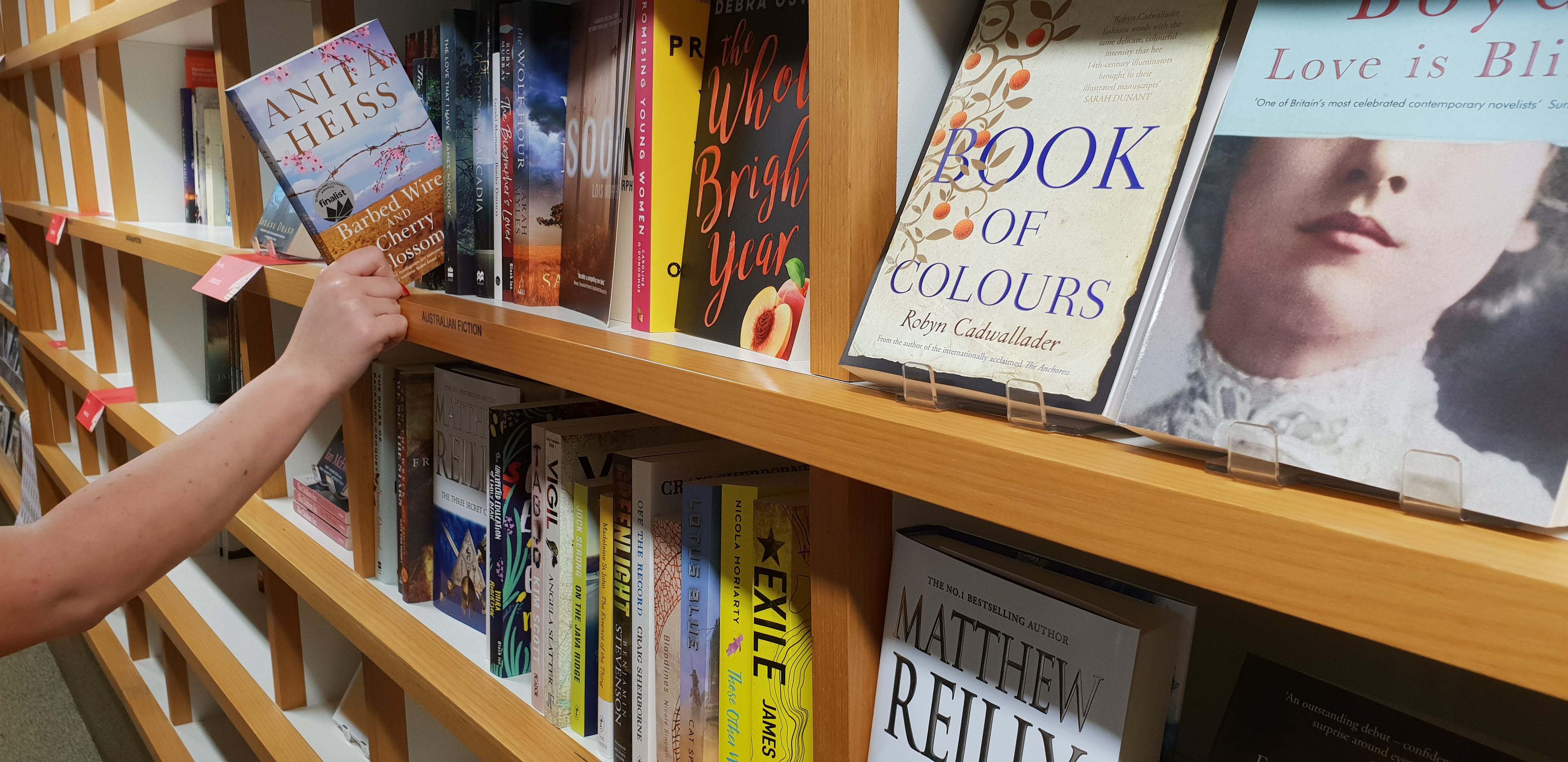 Library Shop fiction bookshelf