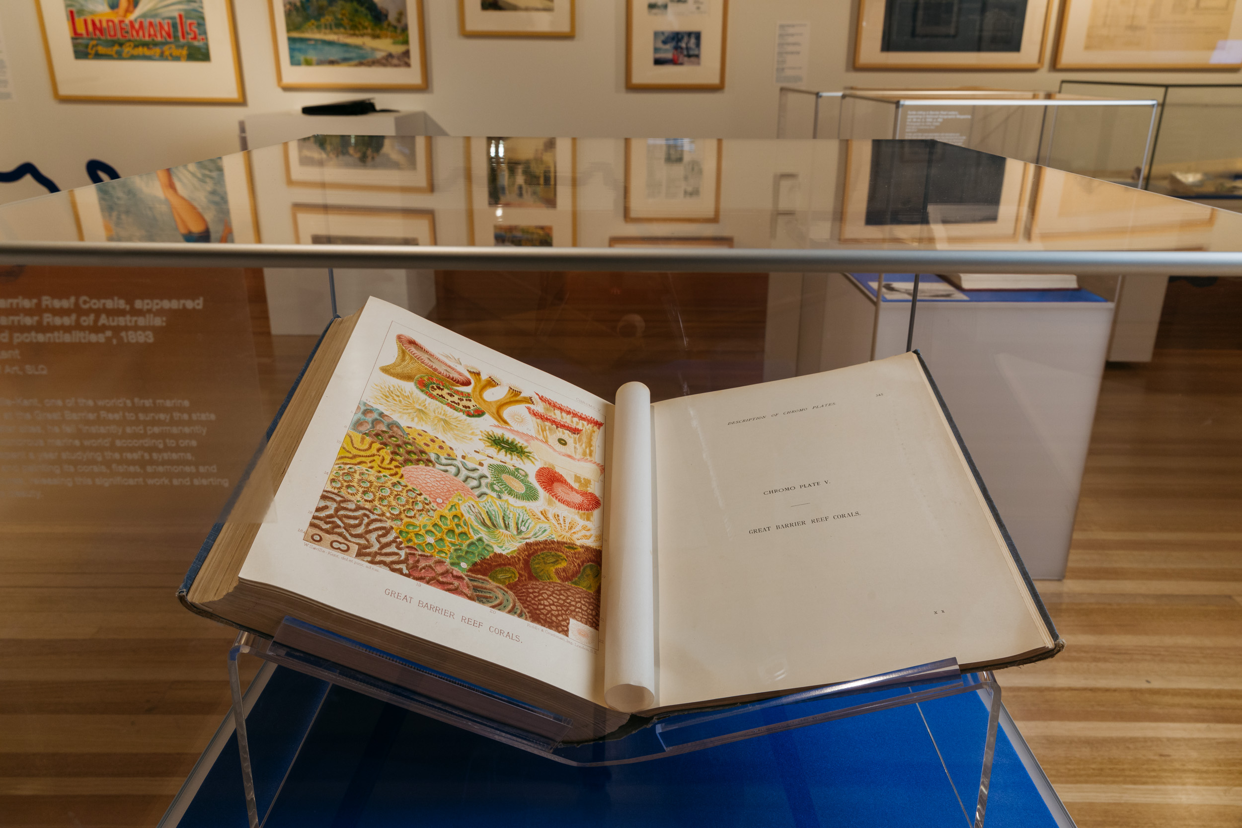 Preserved book in the Islands exhibition at the State Library of Queensland Photo by Josef Ruckli