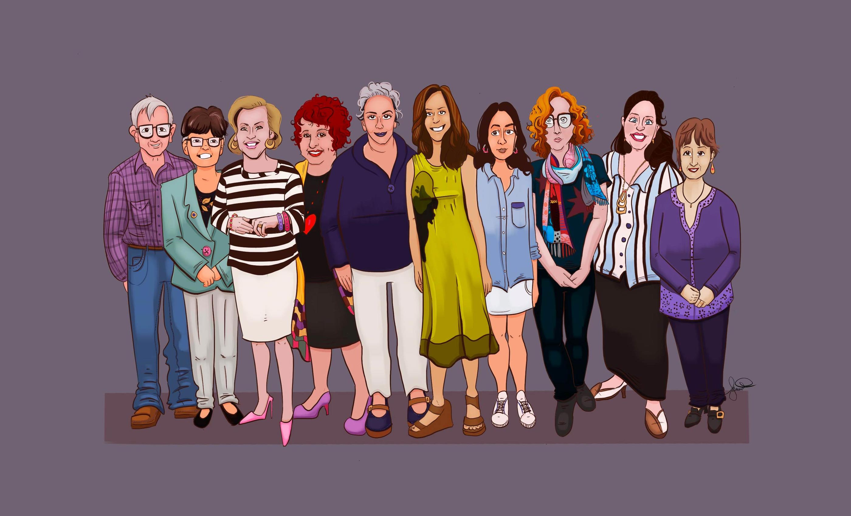 Illustration of the 2020 Queensland Memory Awards recipients who are located throughout Queensland and Australia