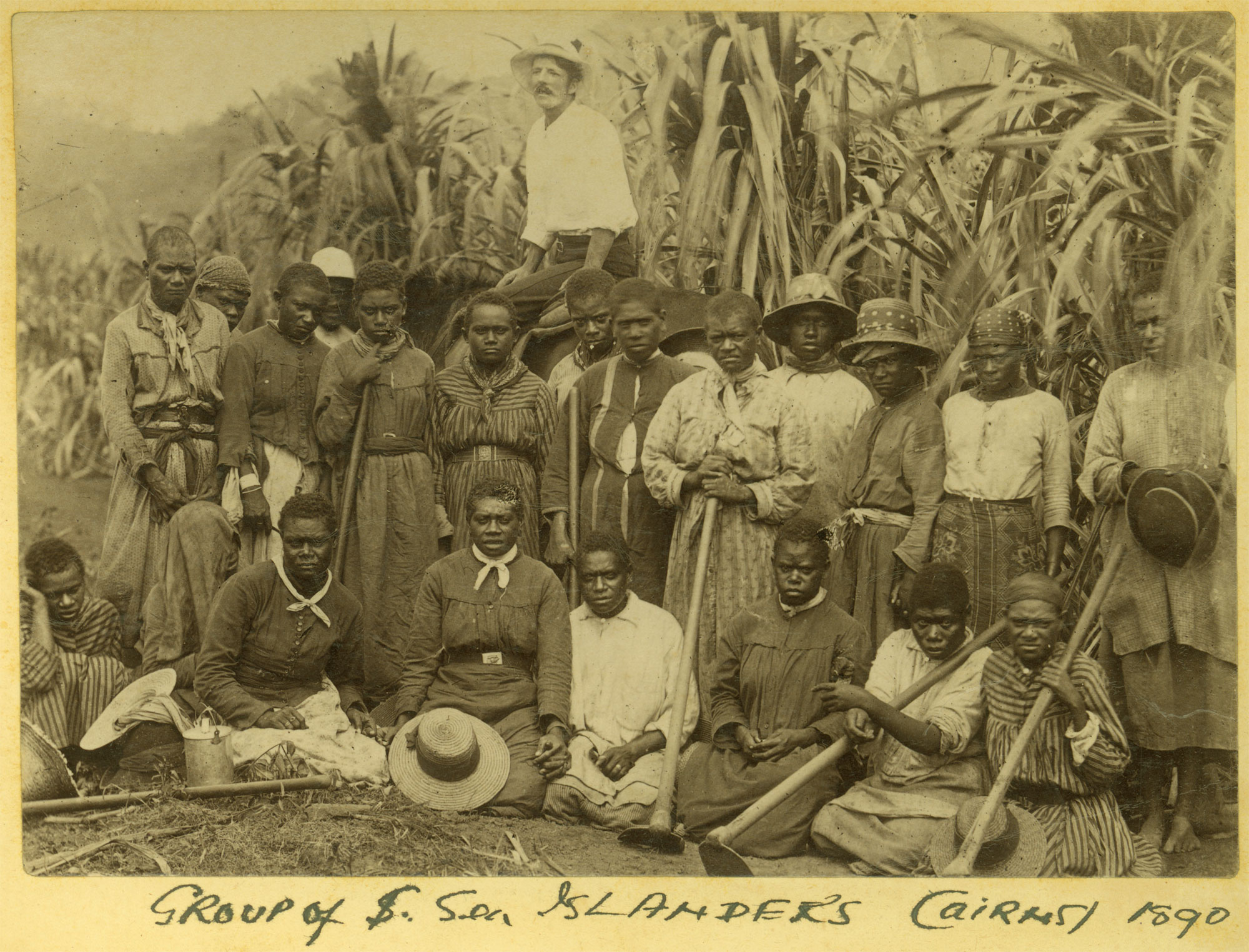 Group of South Sea Islander workers on a property in Cairns