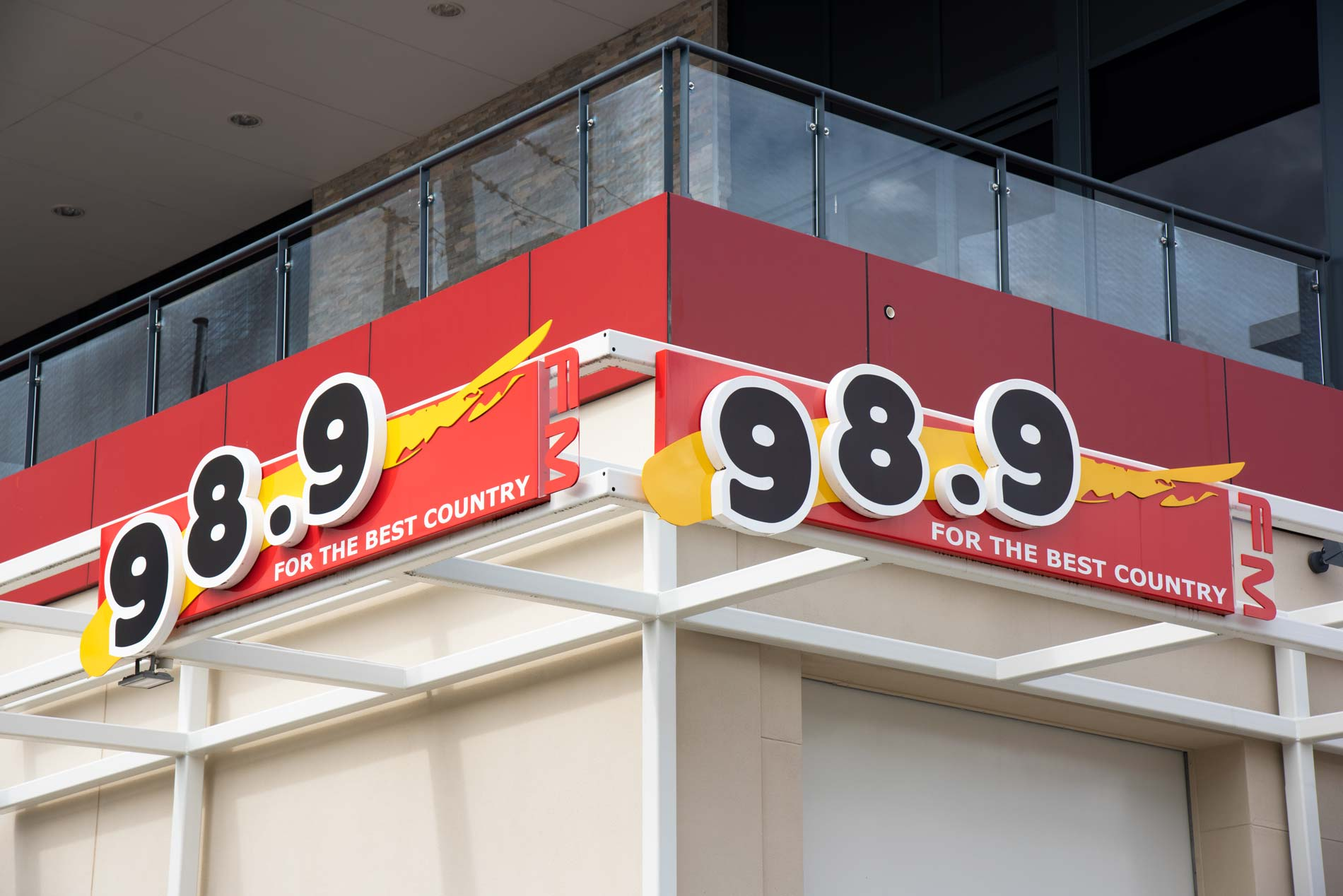 Exterior view of 989 FM radio station