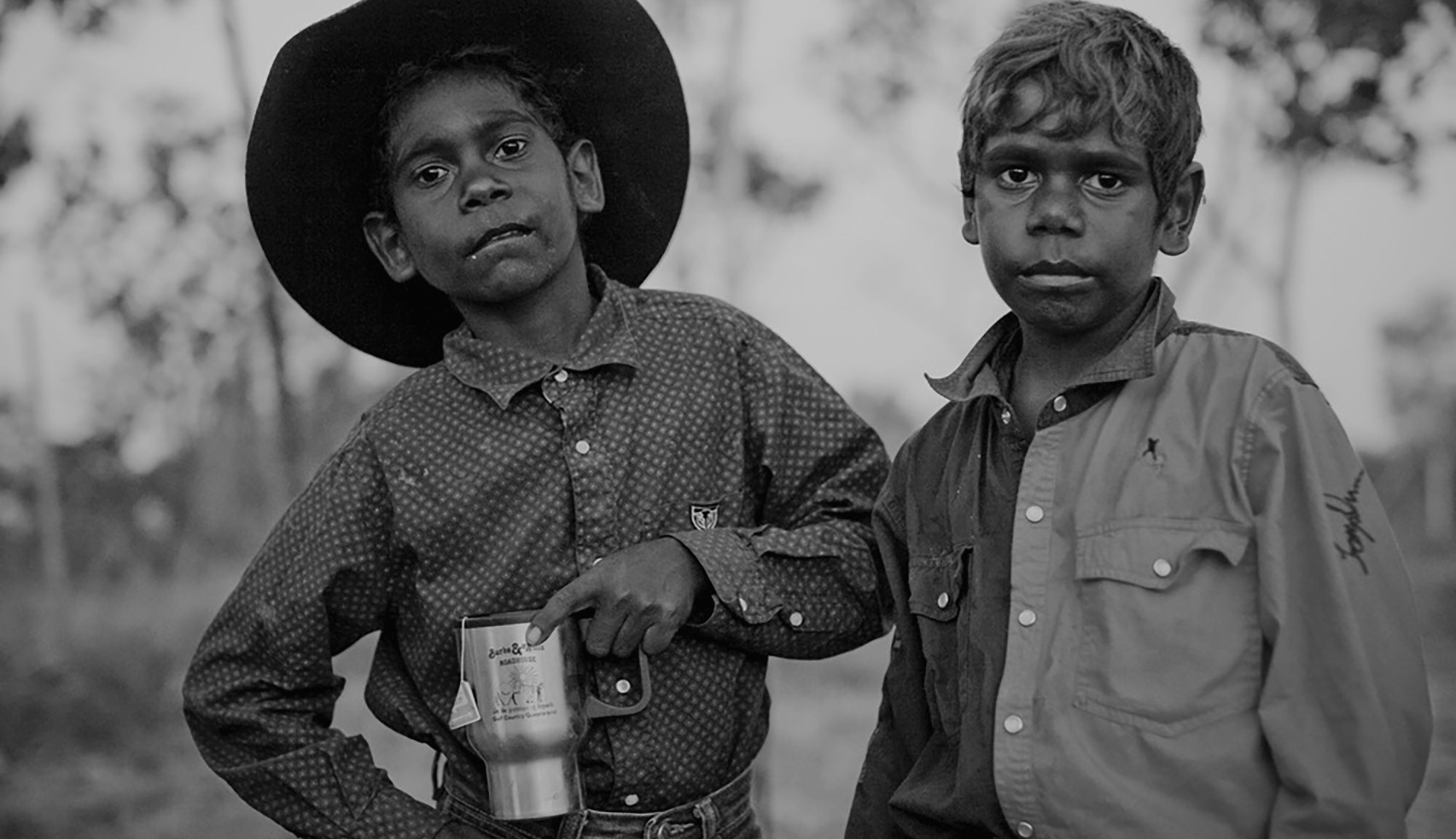 Two young boys at the rodeo Doomadgee Queensland 2008