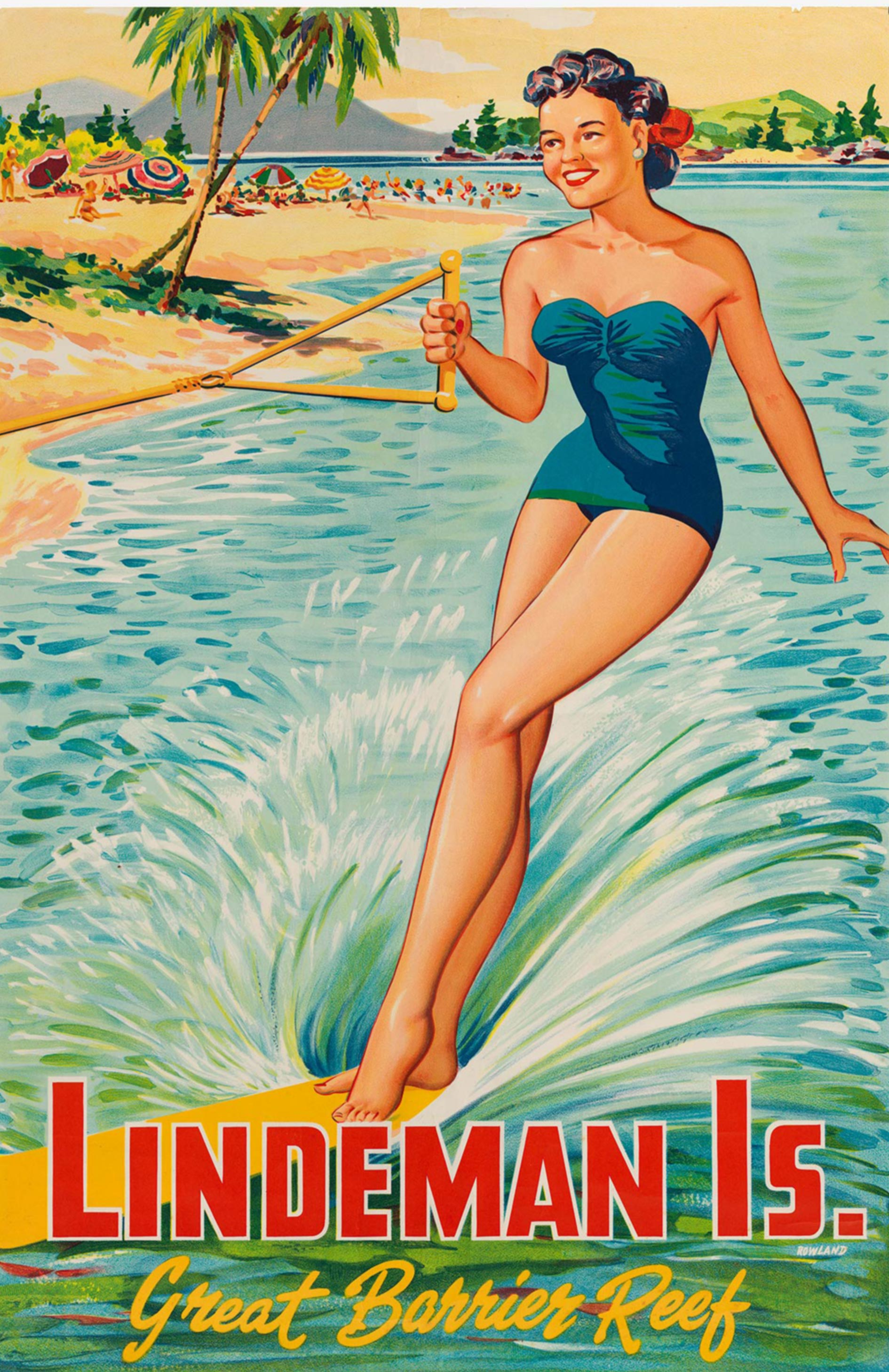 Lindeman Is. Great Barrier Reef, ca. 1940. Poster by Frank Rowland. HPT TOU 052