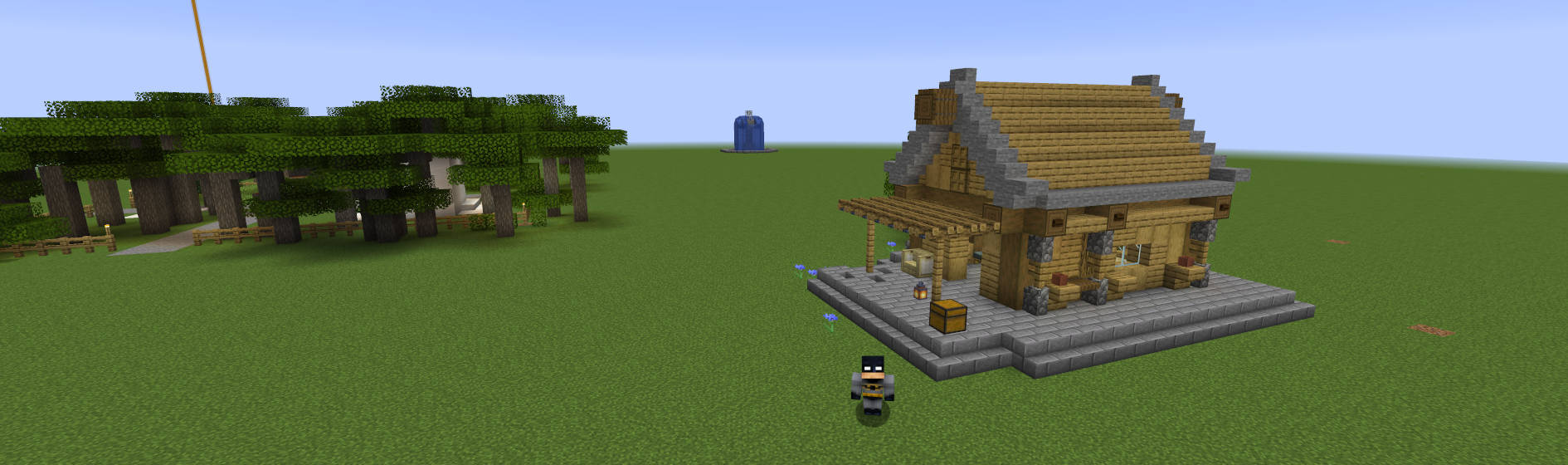 Image of cabin built within Queensland Minecraft
