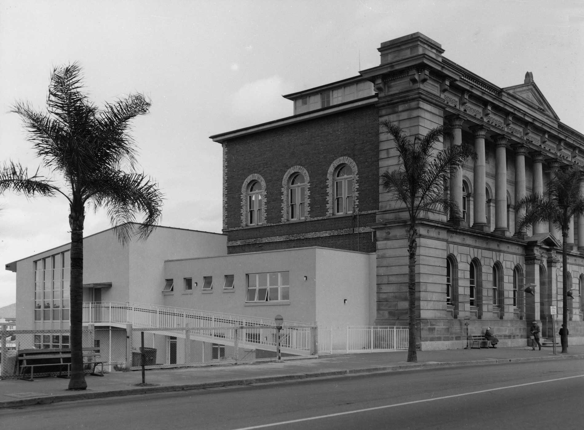 Side View of the State Library of Queensland around 1960 William Street Brisbane 2005