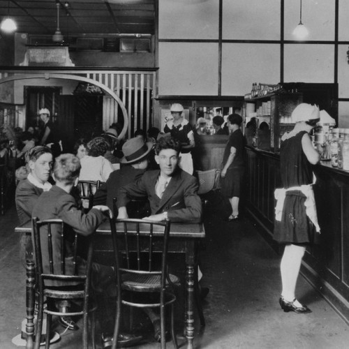 Interior of the Busy Bee Cafe in Haly Street Kingaroy Queensland 2nd January 1929 John Oxley Library State Library of Queensland Neg Neg 105119