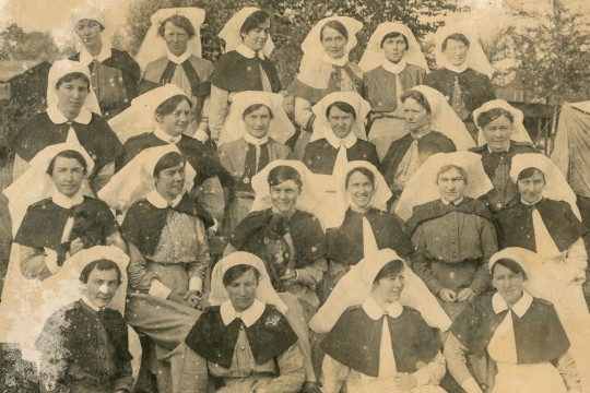 First World War nurses pose for a photograph