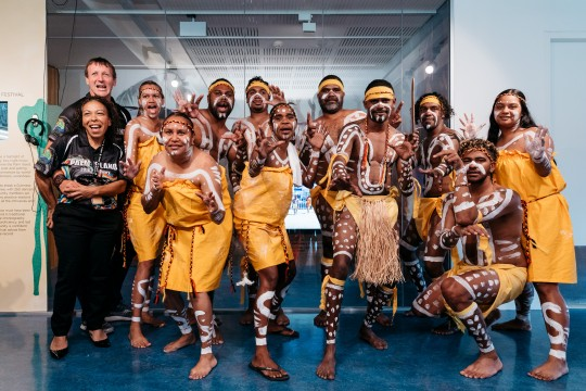 Bwgcolman Dancers at the Palm Island and Our People Exhibition Launch