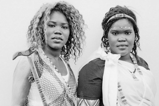Portrait of two South Sudanese women taken taken on South Sudan Independence Day, July 2011.