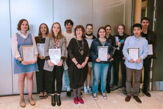 Past winners of the Young Writers Award