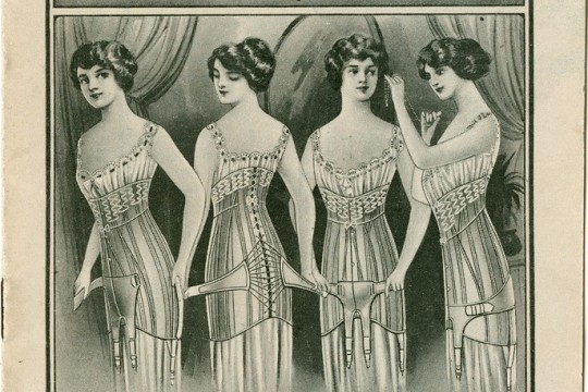 Line drawn advertisement for the Jenyns Patent corset