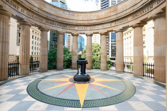 Anzac Square eternal flame