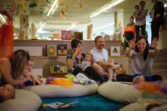 Babies parents and carers enjoying Baby Play at The Corner