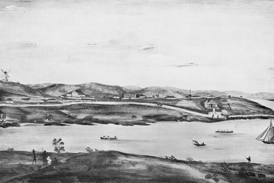 Image of early Brisbane Town in convict days, ca. 1831