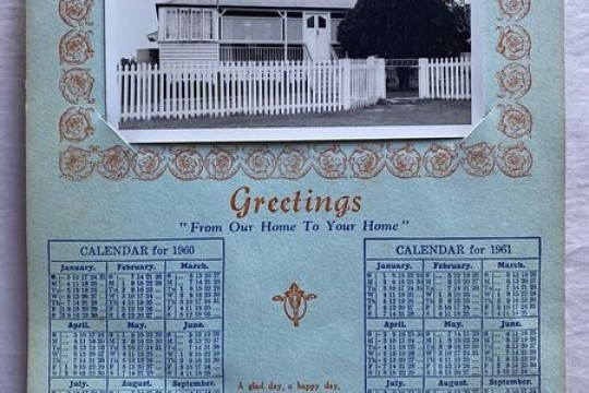 An image of 74 Queen Street Goodna added to the Corley calendar and sold to the home owner in 70s