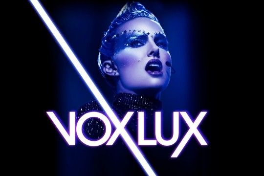 Image from film Vox Lux directed by Brady Corbet produced by Killer Films et al streamed by Kanopy database
