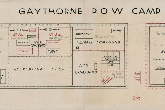 Plan of the Gaythorne PW  I Camp 1943