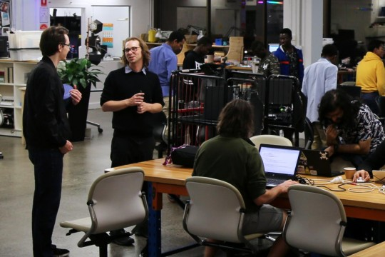 Hack the Evening meetup at the Edge