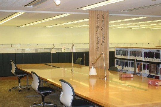 Reasearch desks in the Heritage collection JOL area