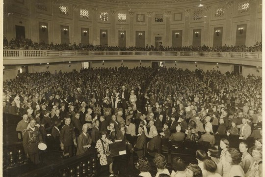 Guests at the opening ceremony of the Brisbane City Hall