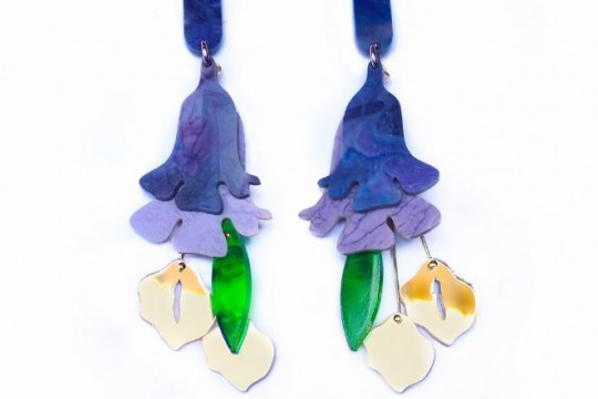 Jacaranda shaped earrings