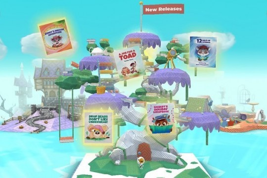 Kindergo reading app for children with thematic islands