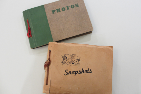 Two of four photograph albums recently acquired by State Library of Queensland belonging to Lt Patrick McHughMcHugh