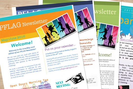 A collection of PFLAG newsletters
