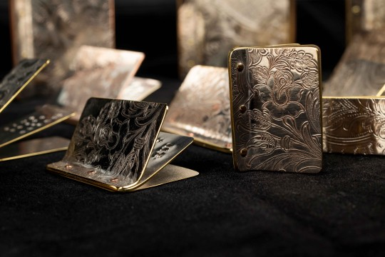 Collection of artists books made from tin