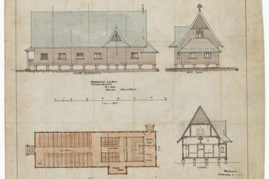 Proposed Church Toogoolawah architectural drawing