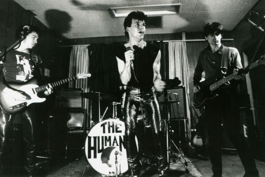 Punk rock band The Humans performing on stage in Brisbane Queensland ca 1980