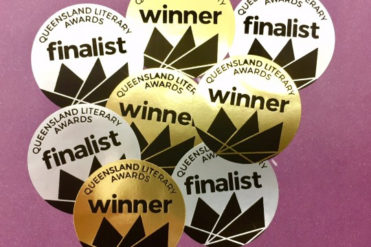 Queensland Literary Awards stickers