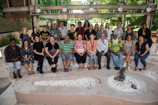 Photograph of the participants at the 2020 Indigenous Languages Research Discovery Workshop