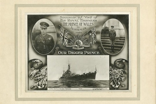 Souvenir of Visit of His Royal Highness The Prince of Wales Edward VIII to Australia 1920 Our Digger Prince