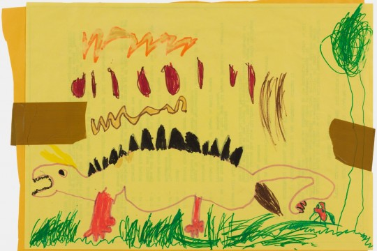 childs drawing of a dinosaur