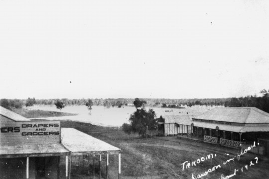 Dawson River in flood Taroom