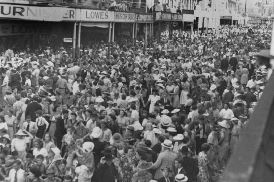 Procession aftermath in Brisbane During World War Two
