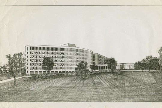 Architectural drawing of University of Queensland