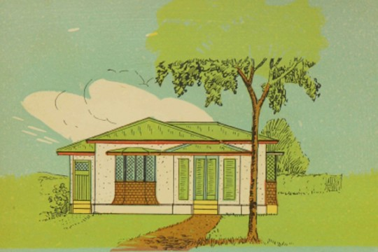 Colour drawing of QLD home