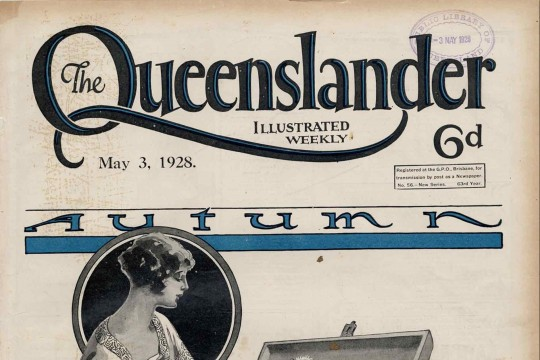 Illustrated front cover from The Queenslander, May 3, 1928