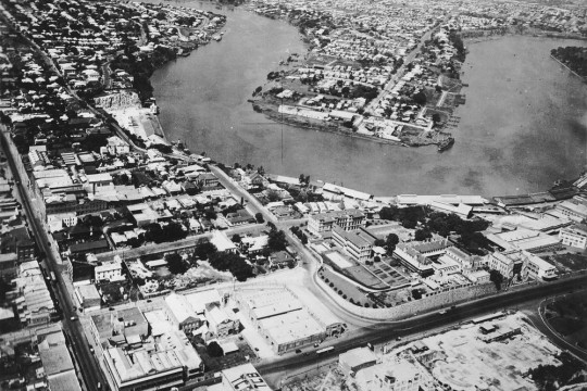 Photo of the Story Bridge site Brisbane 1931