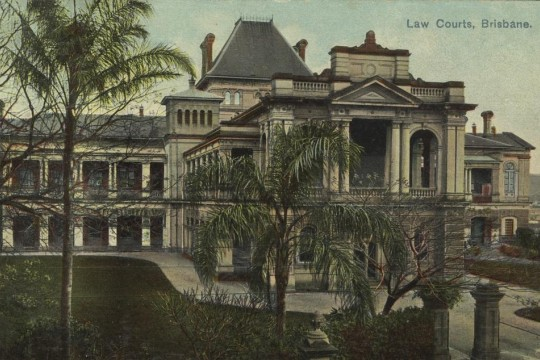 Postcard of Law Courts Brisbane ca1902