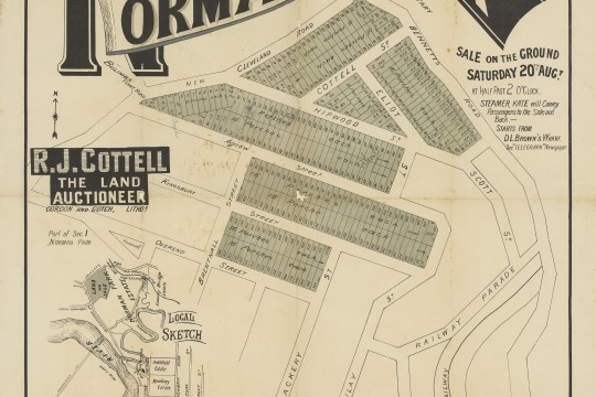 Real Estate Map of Norman Park Estate 1887