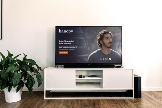 Kanopy film showing on TV