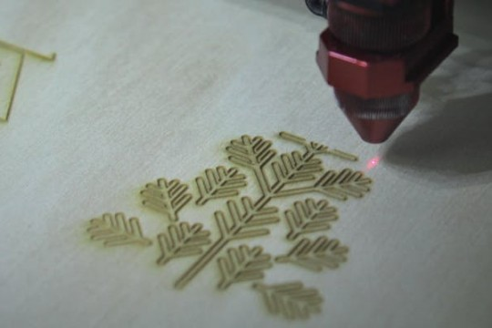 Design made by laser cutter