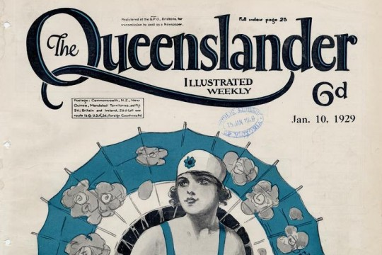 Illustrated front cover from The Queenslander January 10 1929