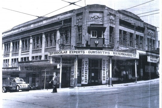 Corner of Adelaide and Wharf Streets Brisbane c1950s