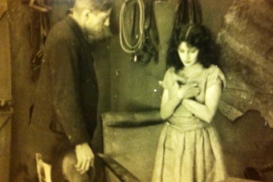 A scene from The Moth of Moonbi leading actress Doris Ashwin with Marsden Hassell